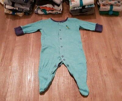 1x Next Baby Strampler Schlafanzug Up To 3 Month 6 Kg Gr 56 62 68 Dinosaurier Moderater Preis
