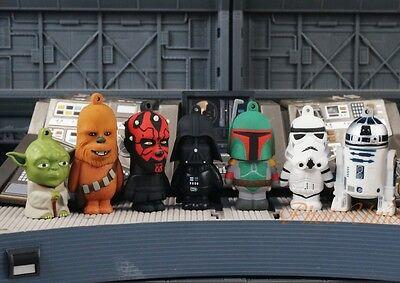 Star Wars Figure Cake Topper Decoration Yoda Rebel vs Vader Empire Set 7