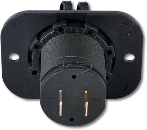 Flush Mount//Boat//Caravan//RV 12V USB POWER SOCKET DUAL CHARGER INLETS 1A//2.1A