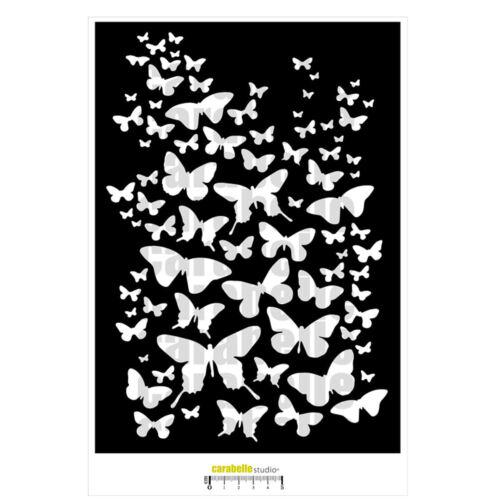 Carabelle Studio TE40102 Plantilla Máscara A4 un vuelo de mariposas