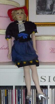 """Antik 26 """" Französisch Boudoir Puppe Poupee Salon Ancienne 1920 Art Déco Lili Durchblutung GläTten Und Schmerzen Stoppen"""