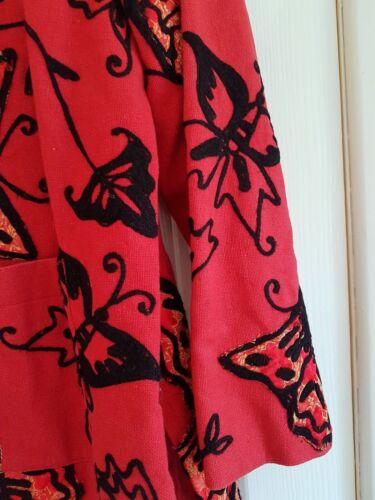 Wth Butterflies American Red L Jacket 48 Sze Veste Buste Anage superbe 0nwqfFPYw