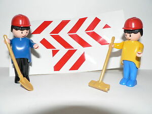 Kinderrennbahnen Elektrisches Spielzeug Carrera Struxi 2 Männchen Figur Baustelle Mit Besen Und Schaufel Neu