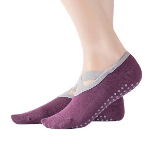 1 Pair Men Women Sport Yoga Socks Exercise Massage Cotton Pilates Anti-slip ha