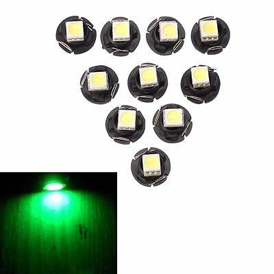 10X T3 8mm 5050 1 SMD LED Car Instrument Plate Dashboard Gauge Lamp 12V Green