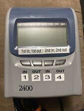 Pyramid 2400at Electronic Payroll Time Record Clock Top Loading 4 Column