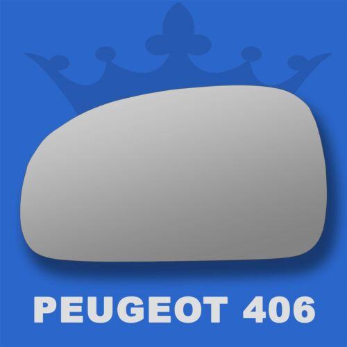 Peugeot 406 wing door mirror glass 1995-2003 Left Passenger side Spherical