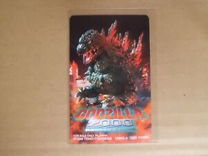 GODZILLA-2000-Phone-card-japanese-movie-japan-new