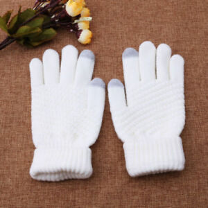 LC-donna-lana-stretch-TOUCH-SCREEN-GUANTI-MAGLIA-a-manopola-inverno-accessori