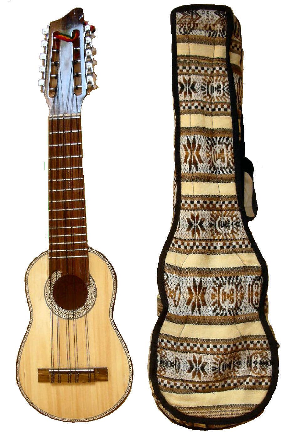 Süd- American Charango von La Paz Bolivien mit Hülle 133 Musikalisches Saiten