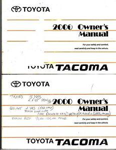 2000 toyota tacoma owners manual ebay rh ebay com 2000 toyota tacoma service manual Tacoma Toyota ManualsOnline