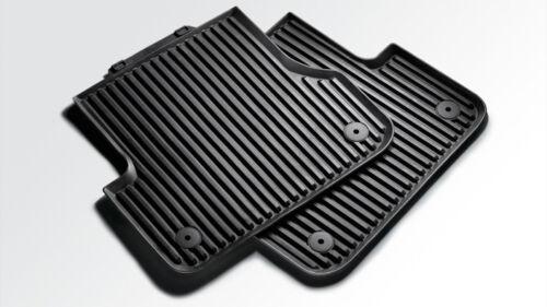 Original Audi A1 Typ 8X Gummifußmatten für hinten schwarz Gummi Fußmatten