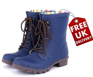 Lace Beret Evercreatures Boot Wellie Up Wellingtons Blue SPFnFTz