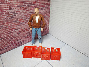 1-10-Scale-Milk-Crate-4-Pack-Red-Shop-Garage-Crawler-Doll-House-Accessories