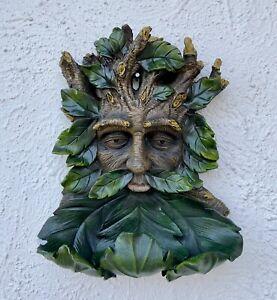 35cm-Large-Green-Man-Bird-Feeder-Ornament-Garden-Witchraft-Wicca-Pagan