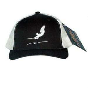 """NEW Wakeboarding Trucker Hat - """"Truck the Waves"""" Black White One Size"""