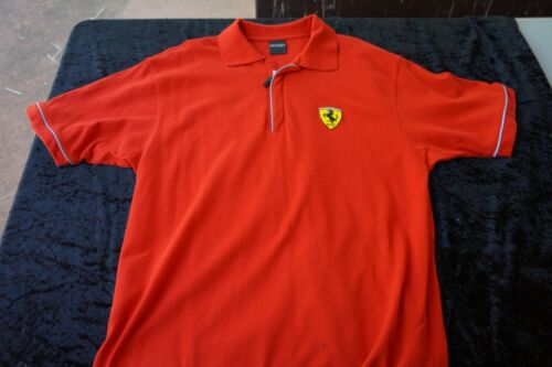 Ferrari Polo Shirt Red Mens Large
