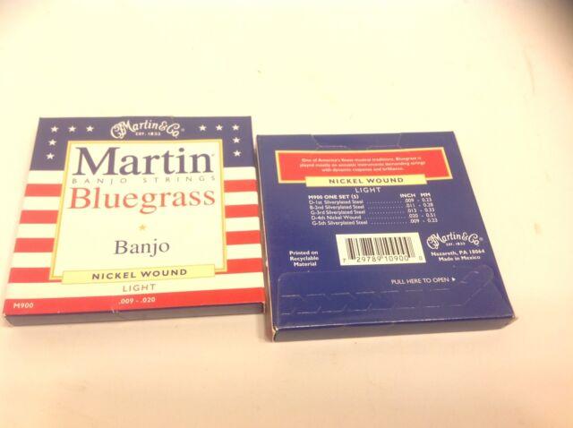 Martin Banjo Strings Bluegrass Nickel Wound Light M900