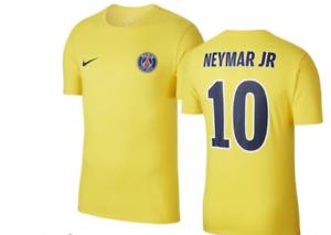 Détails sur Tee shirt Nike PSG Neymar Jaune Taille M Neuf et Authentique