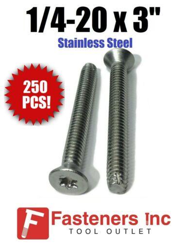 "1//4-20 x 3/"" Stainless Steel Trailer Flooring Floorboard Screw Torx Qty 250"