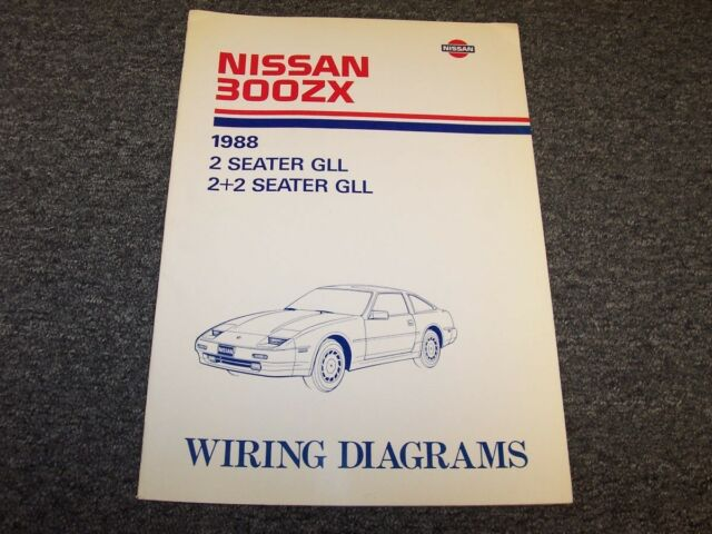 1988 Nissan 300zx Hatchback Electrical Wiring Diagram Manual Gs 2 2 3 0l V6