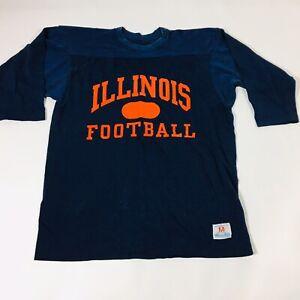 Champion NCAA Mens Short Sleeve Graphic T-Shirt Illinois Illini Medium