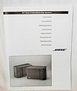 bose 201 series iv direct reflecting speakers owners guide a4 ebay rh ebay com Bose 301 Series III Bose 201 Series V