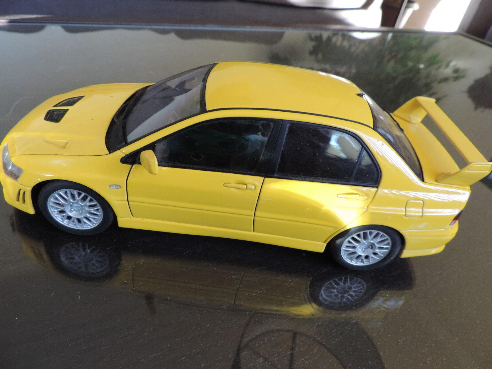 MITSUBISHI LANCER EVO VII EVO 7 jaune 1 18 AUTOART Auto Art