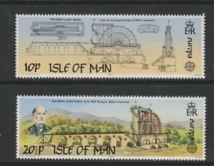 Ile-de-Man-1983-Europa-Laxey-Roue-Ensemble-MNH-Sg-249-50