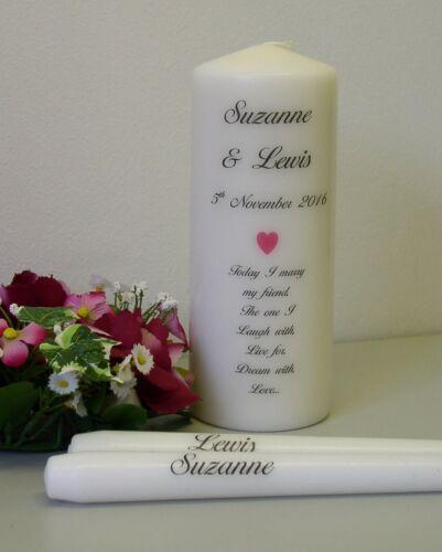 with or without holder Personalised Larissa Wedding Unity Candle Set