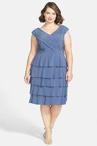 Details about New Patra Beaded Trim Plus Size Matte Jersey $178 Dress 93152  /Steel Gray /16W.