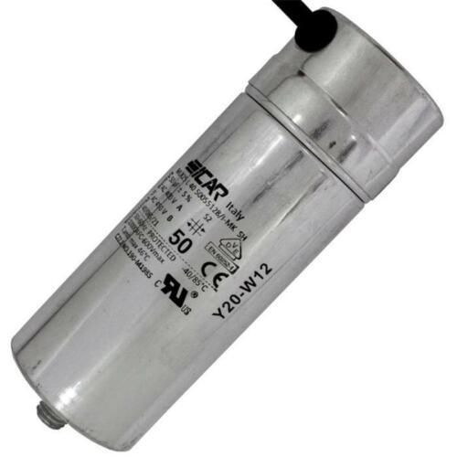 Anlaufkondensator Motorkondensator 50µF 450V 55x151mm Kabel 45cm ICAR 50uF