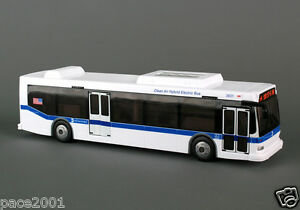 New York City MTA Hybrid Bus With Opening Doors 11 Inches long