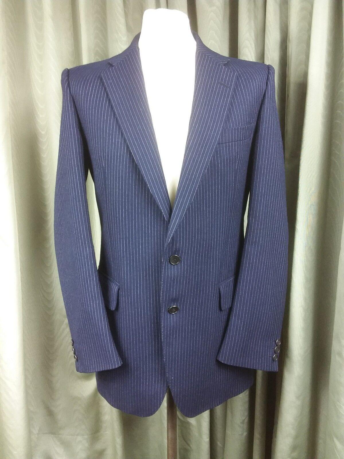 Austin Reed 100% Wool Navy Pinstripe Suit C40L W33 L30.75