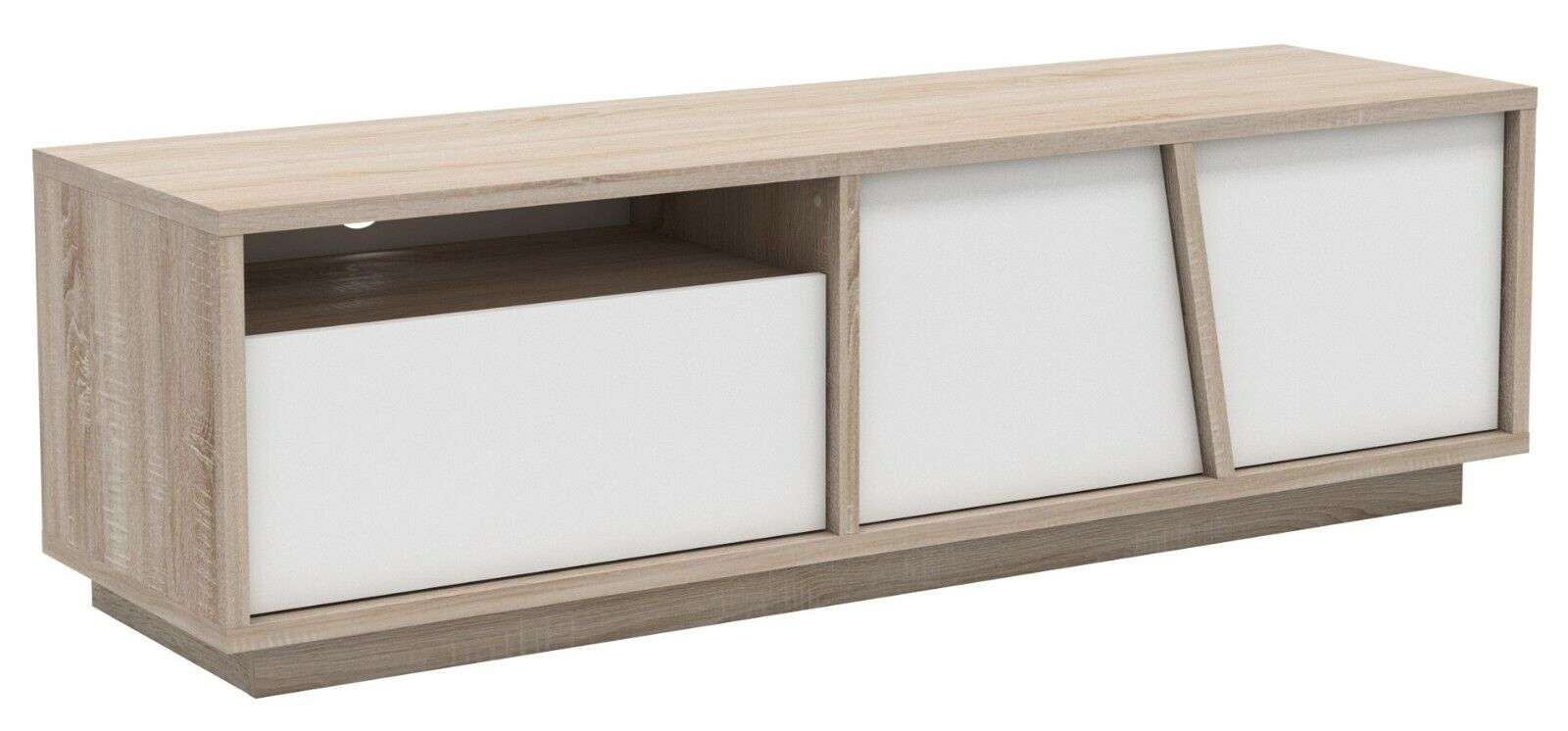 Details about Modern tv table furniture living dining room furniture  television oak and white 149x42- show original title