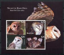 NIUAFO`OU 2012 Eulen Owls Block ** MNH