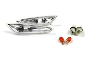BMW-3-Serie-E46-01-05-Transparent-Clignotants-Repeteur-Set-Paire-avec-Ampoules