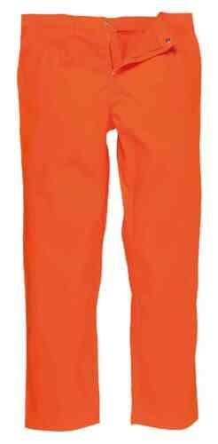 Portwest BZ30 BizWeld Mens FR Work Trousers Flame Retardant Welders Workpants