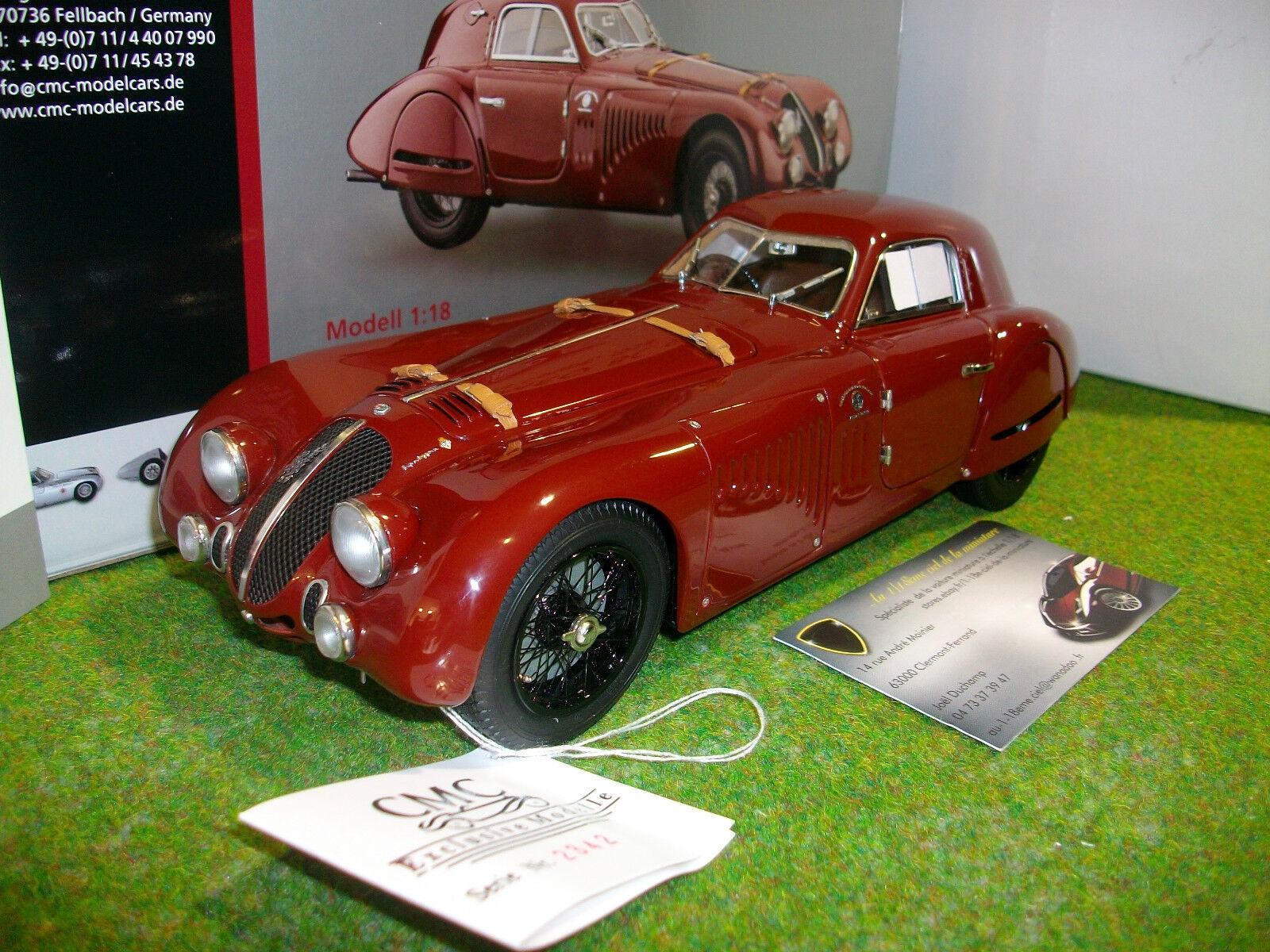 ALFA ROMEO 8C 2900B SPECIALE TOURING coupé bordeaux de 1938 au 1 18 CMC M107