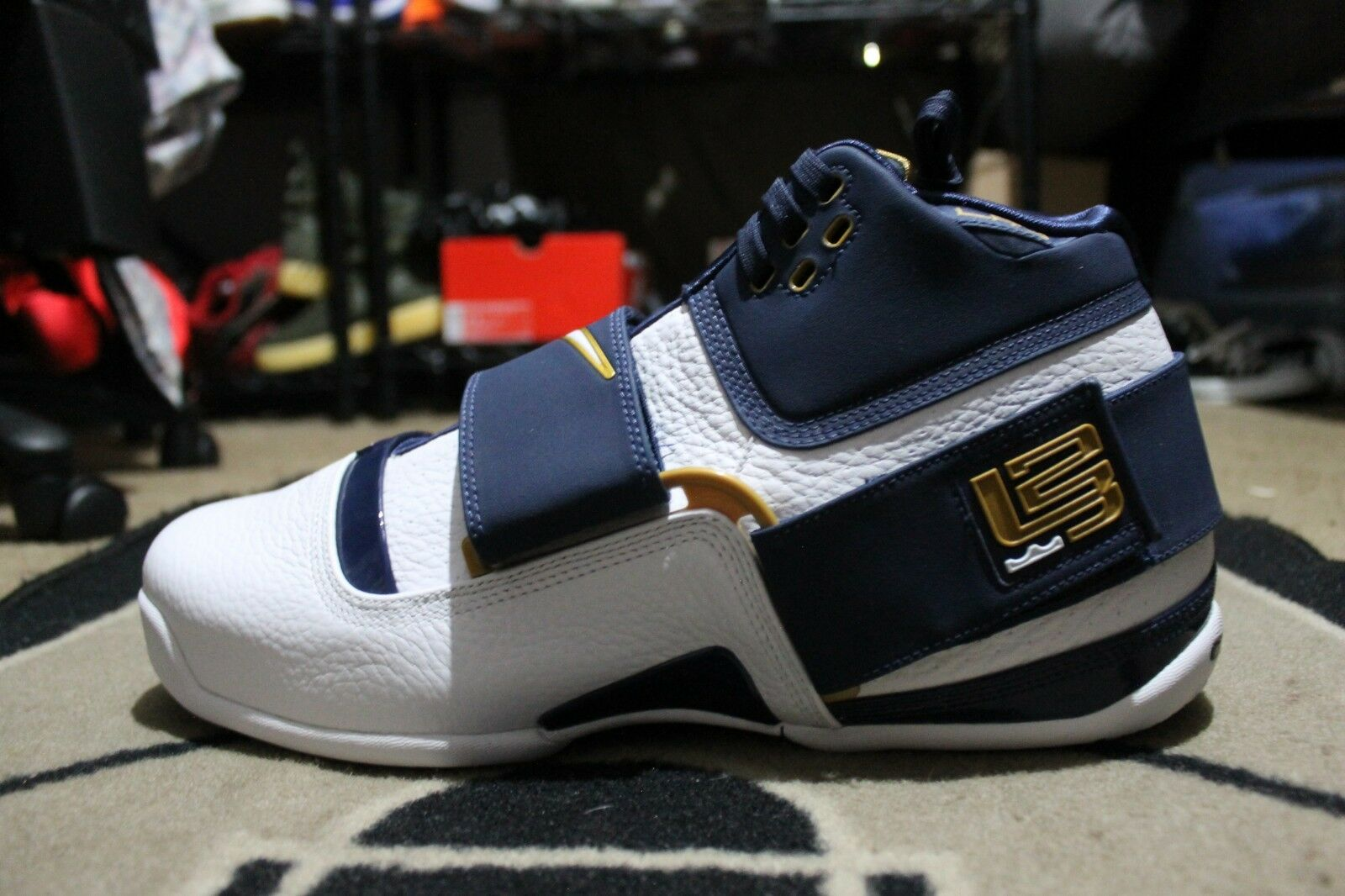New Nike Zoom Lebron Soldier 1 CT16 QS 25 Midnight Navy AO2088-400 Sz 14