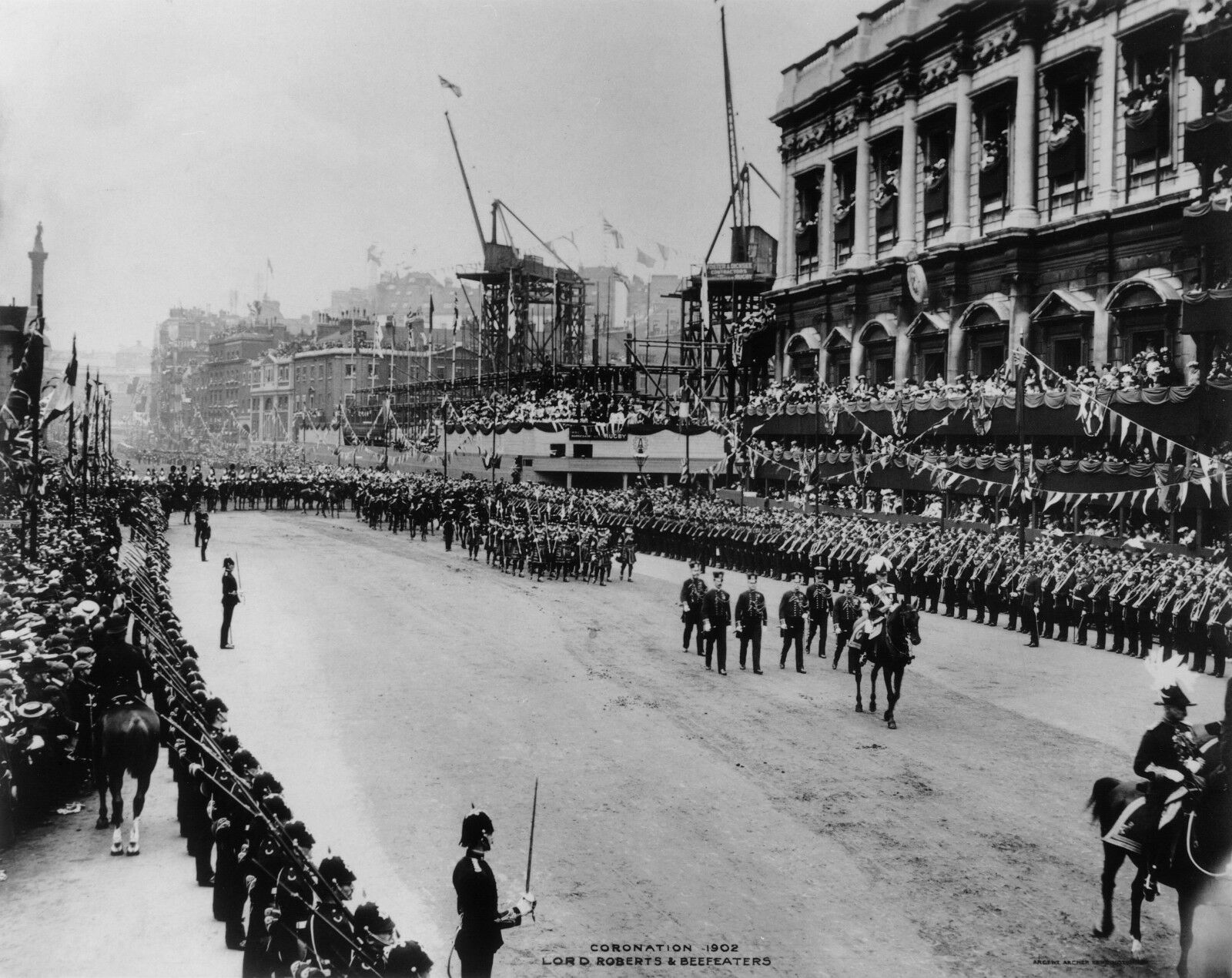 1902 The procession for the coronation of King Edward   Photo Print