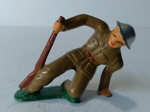 Barclay Lead Toy Falling With Rifle Soldier RARE manoil 1930's soldier