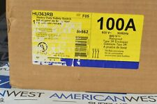 Hu363rb Square D 100 Amp 600 Volt Non Fused 3r Outdoor Disconnect New In Box
