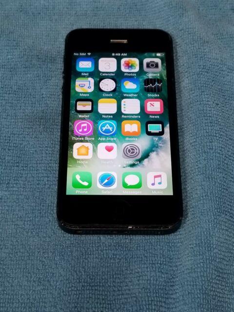 Apple iPhone 5 - 16GB - Black & Slate (Unlocked) A1429 ...