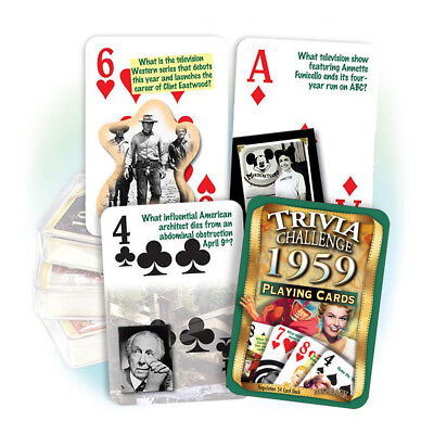 Flickback 1946 Trivia Playing Cards Great Birthday or Anniversary Gift