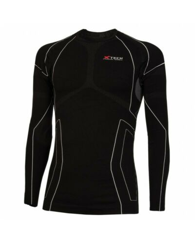 Details about  /XTech Vest Race 3 Sleeves Long round Neck Black