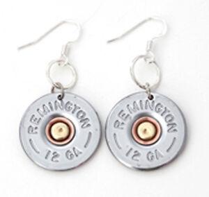Image Is Loading 12 Gauge Shotgun Nickel Bullet Earrings Rem