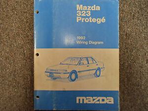 1992 Mazda 323 Protege Electrical Wiring Diagram Manual ...