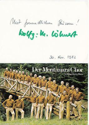 g 4929 Kaufe Jetzt Montanara Chor Autogrammkarte Original Signiert Autogramme & Autographen Original, Nicht Zertifiziert
