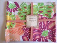 Pink Placemat Set 4 Piece Floral Tradewinds Designer Collection Cookware